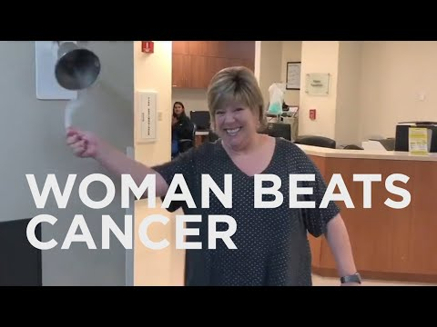 None - Woman Finishes Radiation And Breaks Cancer-Free Bell In Excitement