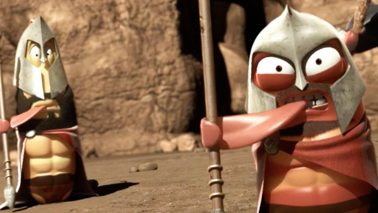 LARVA - LARVA SPARTANS - LARVA 300   Videos For Kids   Larva Cartoon    Larva Animation