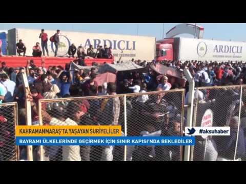 Suriyeliler Bayramı Ülkelerinde Geçirmek İçin Sınır Kapısı'nda Beklediler