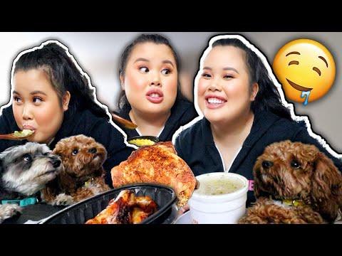 BOSTON MARKET MUKBANG 먹방 EATING SHOW | Rotisserie Chicken + Mashed Potato + Chicken Noodle Soup