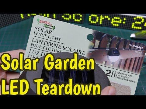 Solar Garden Led Light Tear Down And Circuit Analysis Youtube