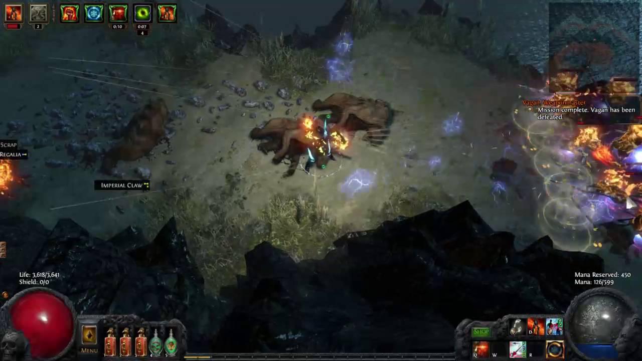 POE - Ascendancy - Tornado Shot DeadEye Gameplay - YouTube