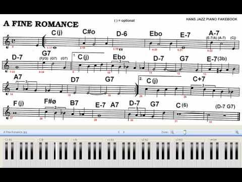 A Fine Romance Piano Jazz Exercise Sheet Youtube