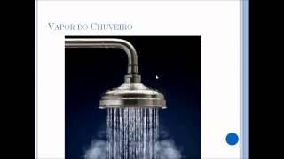 Difusão Simples- Por que sai vapor no chuveiro? - Mudança de estado fisico