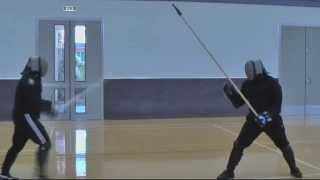 Spear vs Sword and Buckler Nick vs Mike Sparring