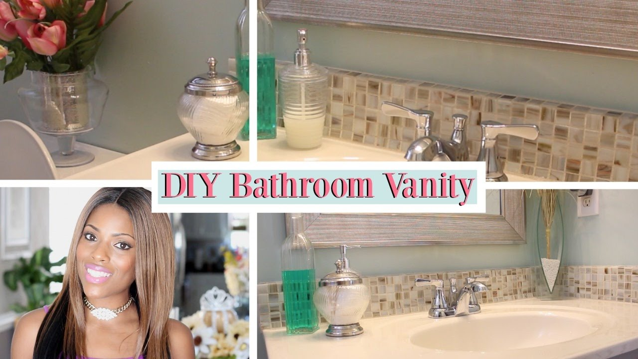 Glam Home  DIY Bathroom Vanity Remodel  YouTube