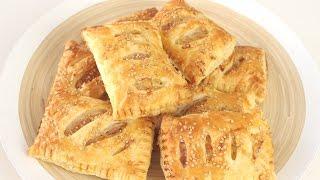 Blätterteigtaschen mit Schinken und Käse selber machen