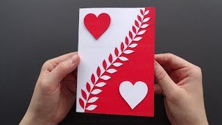 How to make a greeting card with hearts ❤ DIY Mother's day Gift ❤