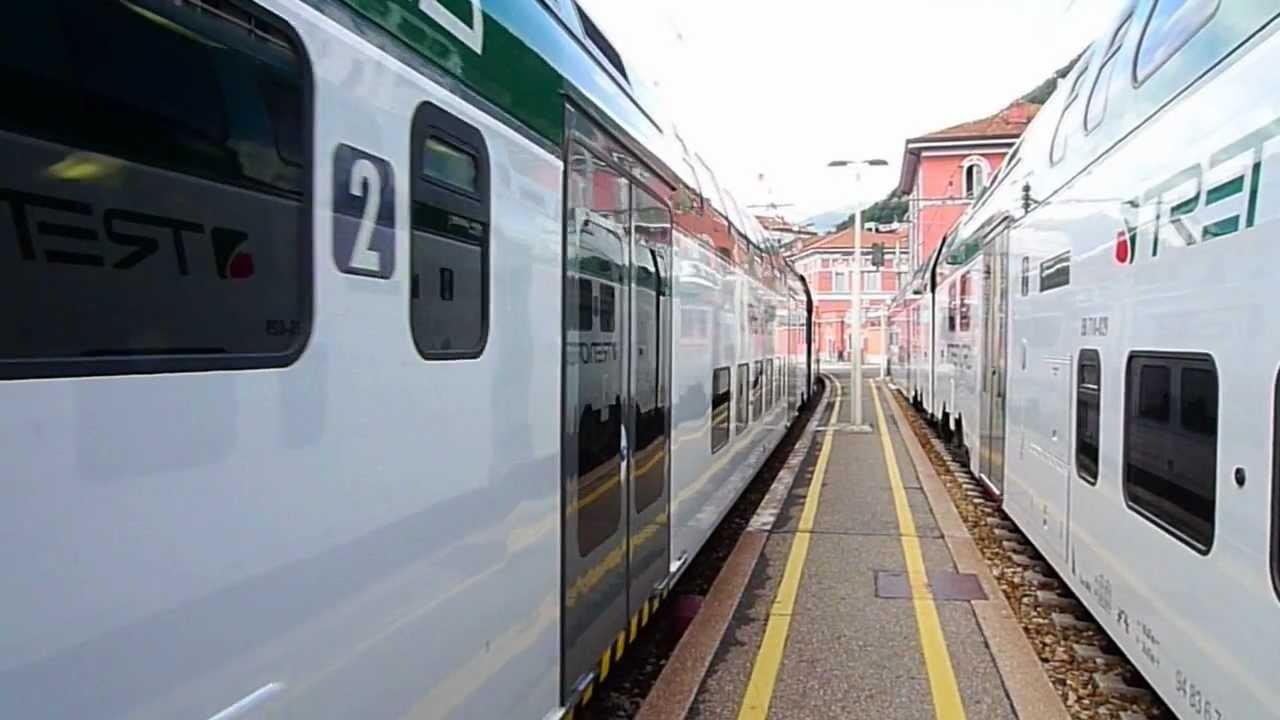 Partenza treno trenord dalla stazione como lago verso milano - Trenord porta garibaldi ...