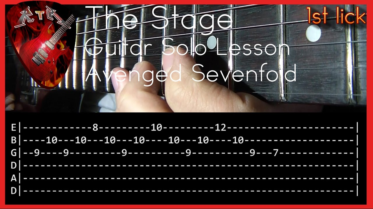 The Stage Guitar Solo Lesson - Avenged Sevenfold (with ...