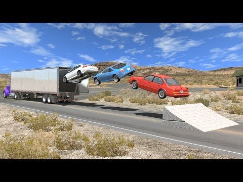 Beamng drive - Open truck Cargo Doors car Speeding Crashes