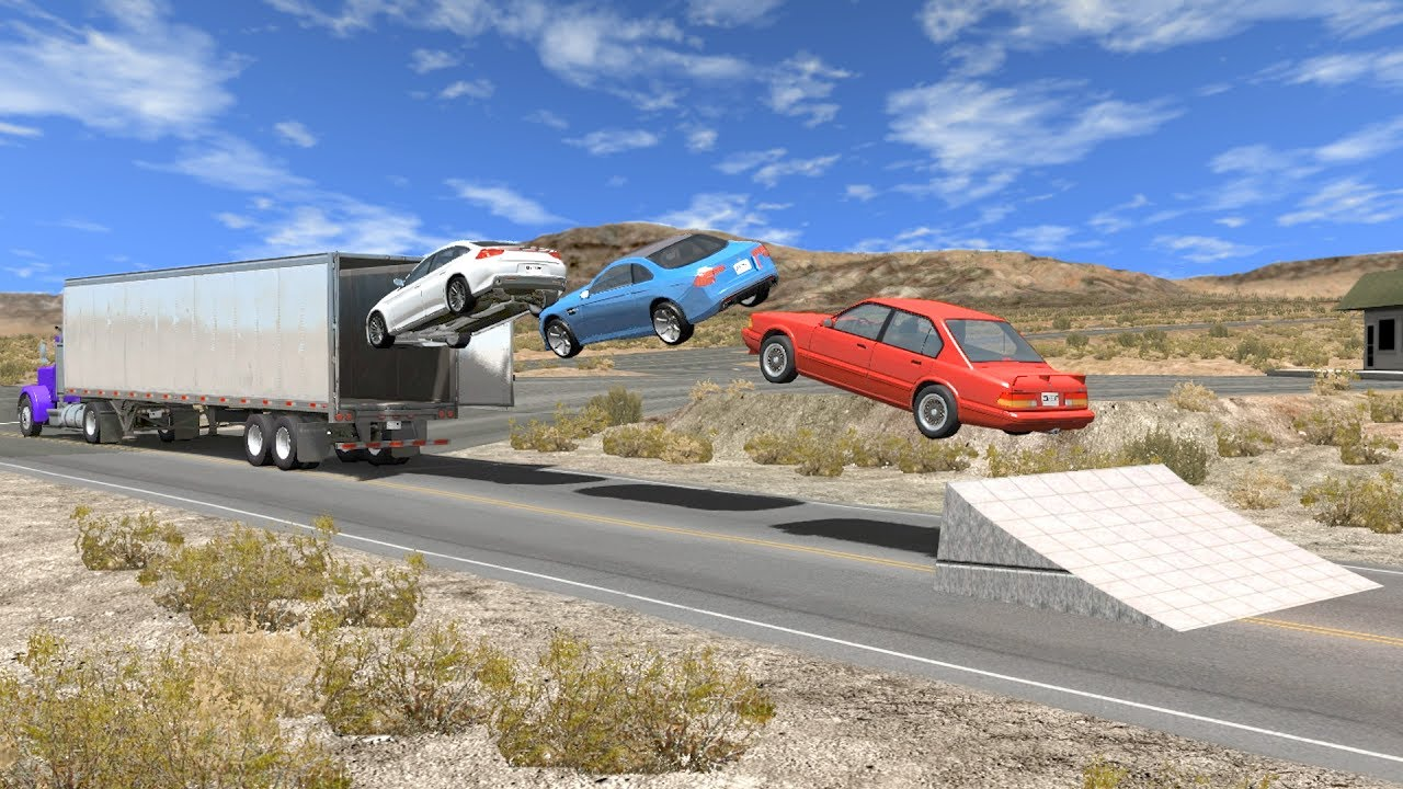 Beamng Drive Open Truck Cargo Doors Car Speeding Crashes