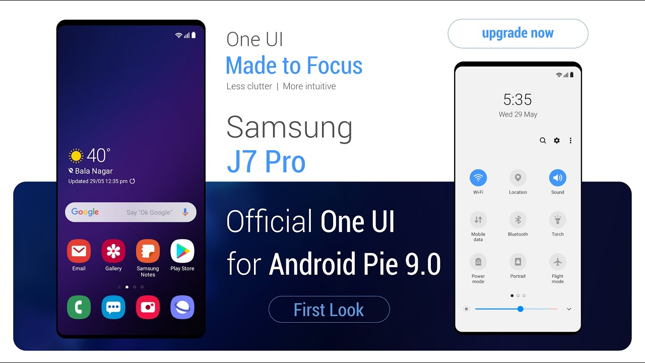 Samsung J7 Pro One UI for android Pie 9 0 | First Look