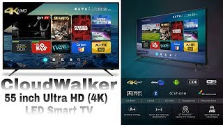 CloudWalker LED TV 55 inch Ultra HD 4K LED Smart TV sk technical khadkaji