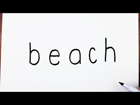 how-to-draw-a-beach-using-the-word-beach