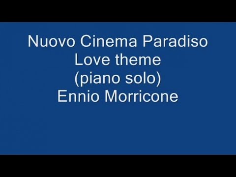 Mercuzio Pianist - Love theme - Nuovo Cinema Paradiso (piano solo) by Ennio Morricone