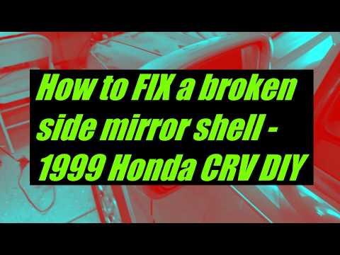 Broken Side Mirror Shell Fixed! 1999 Honda CRV