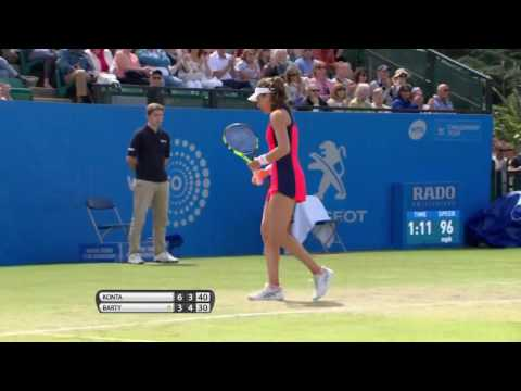 Johanna Konta Aegon Open Nottingham shot of the day