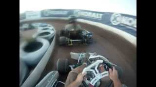 holly 100 backyard go kart racing  the first 50 laps 5-12-12