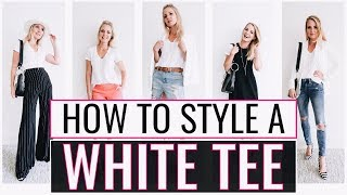 5 Ways to Wear Your Basic White T-Shirt | Styling the Basics #5