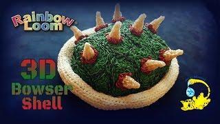 Rainbow Loom 3D Bowser Shell (2/5) Боузер, Bouzer, 大魔王クッパ, King Koopa