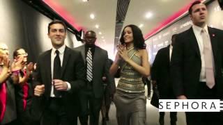 Lancement du parfum Rogue by Rihanna au Sephora Champs-Elysées