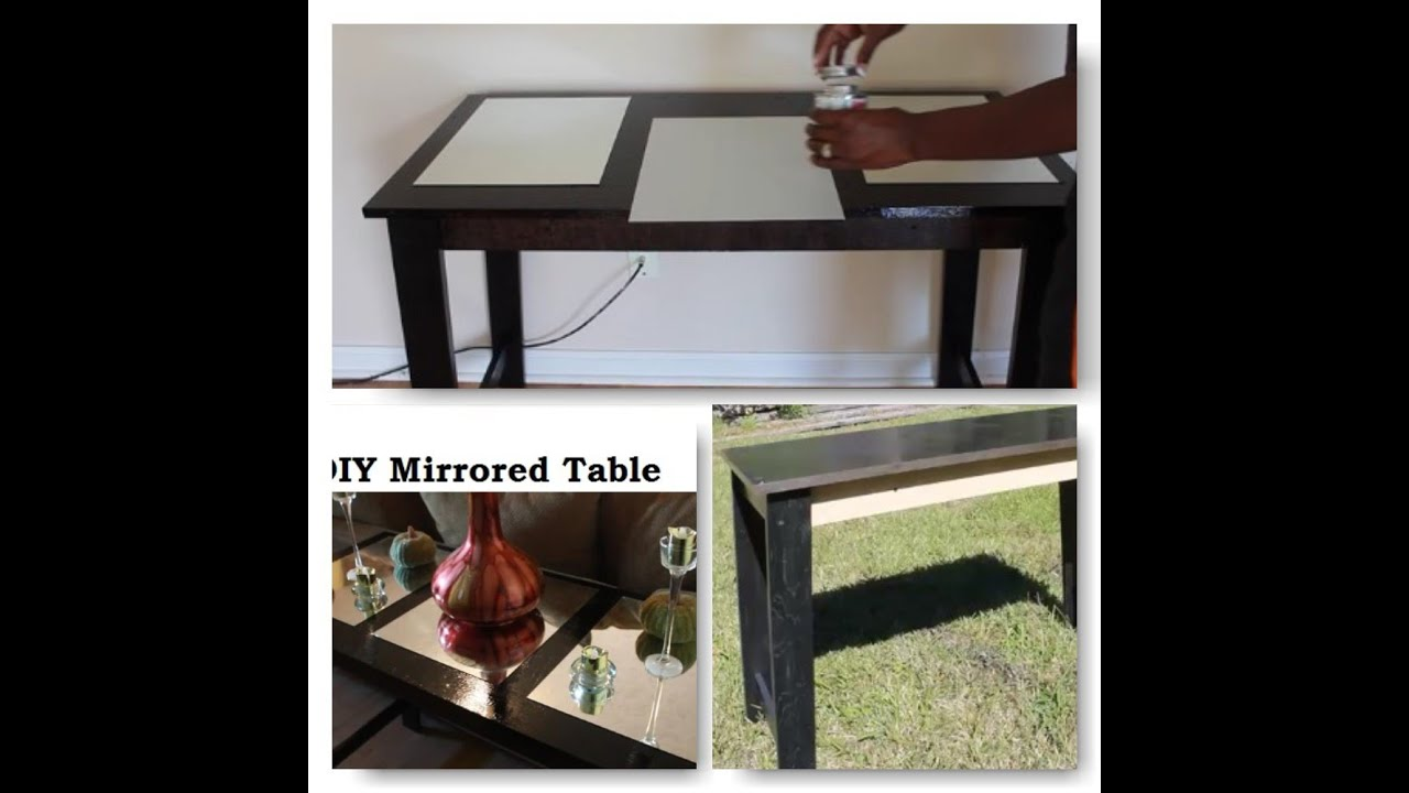 DIY Mirrored Sofa Table | Teresa Lawson   YouTube
