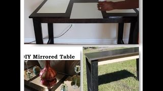 Diy Mirrored Sofa Table