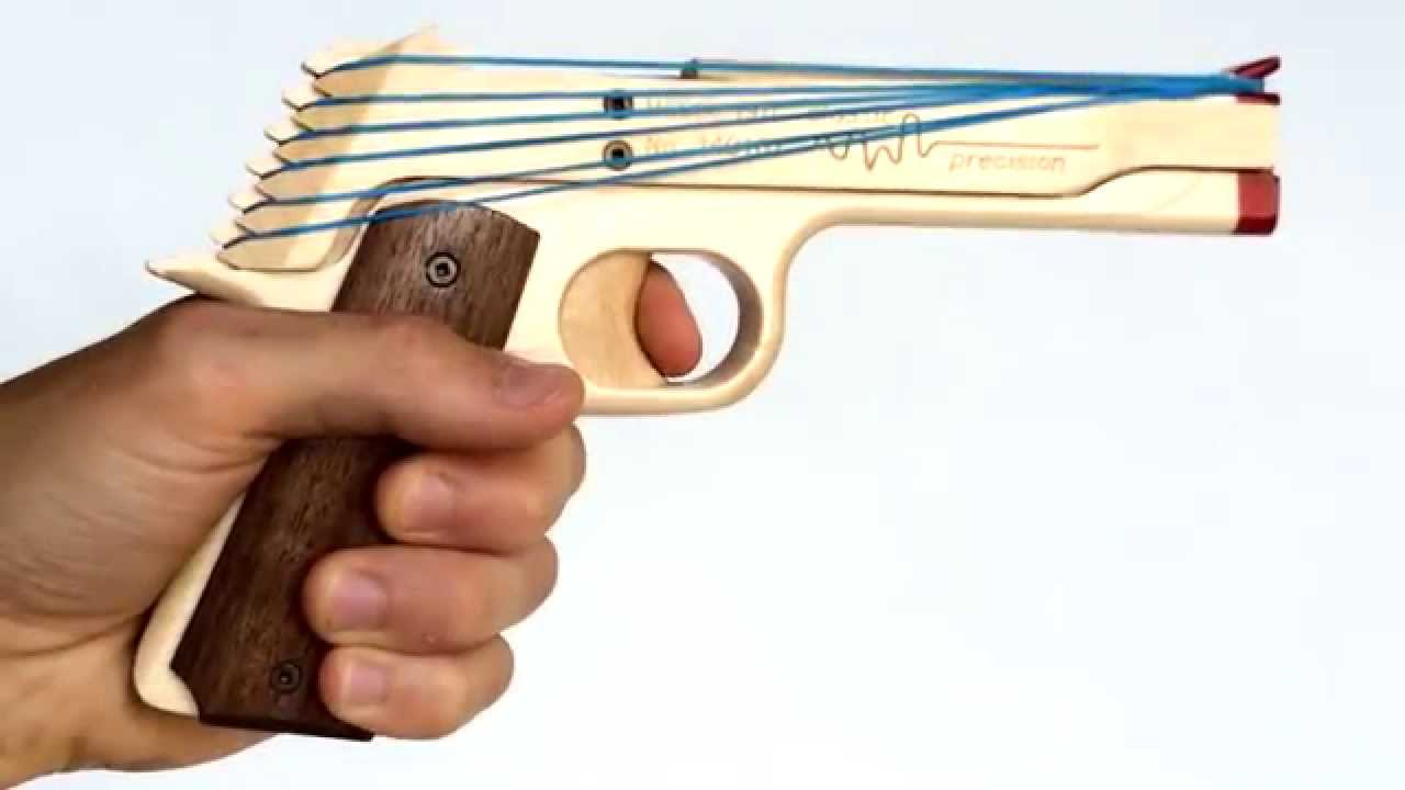 1911 Rubber Band Gun By Elastic Precision Youtube