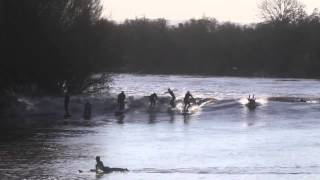 Surfers ride the biggest Severn Bore in 20 years
