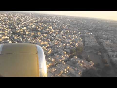 Nice landing at Karachi airport.