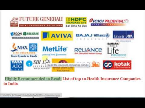 Best Rated Health Insurance Companies >> Top 10 Insurance Company In India Youtube