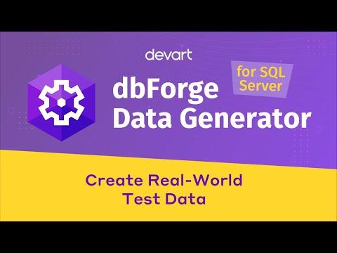 SQL Data Generator For Populating SQL Server Databases