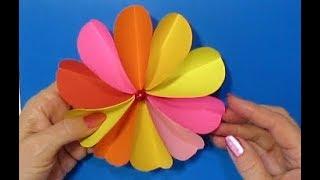 ЛЕГКО! Подарок Маме своими руками (День рождения. 8 Марта, День Матери). Цветок Из Бумаги Поделки