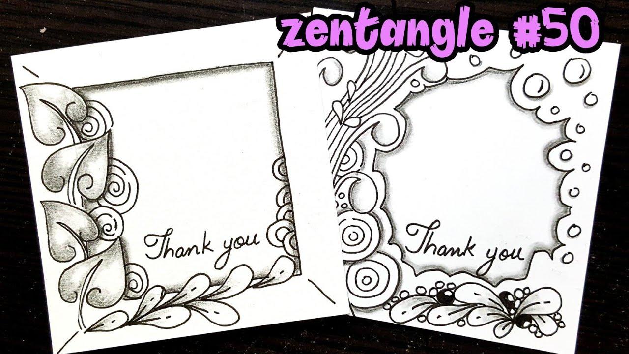 Zentangle Art Mandala Art Step By Step For Beginners Doodle Floral Art Border Quro Art Youtube