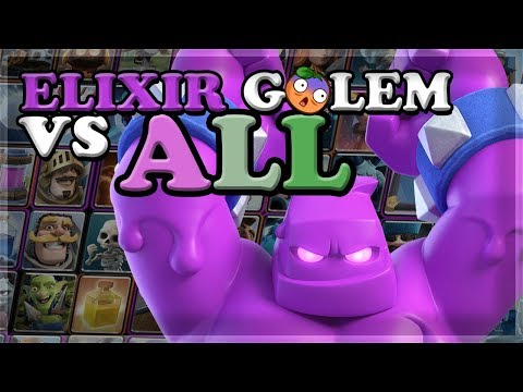 Elixir Golem GAMEPLAY Vs ALL CARDS (Best Placements And Interactions) 🍊