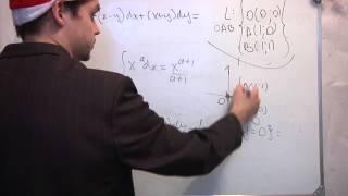 Криволинейный интеграл 2-го рода. Видео урок. Ч2.