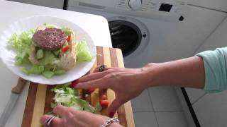 Healthy Nutrition For Children Burger + Salad + Baguette How To Make