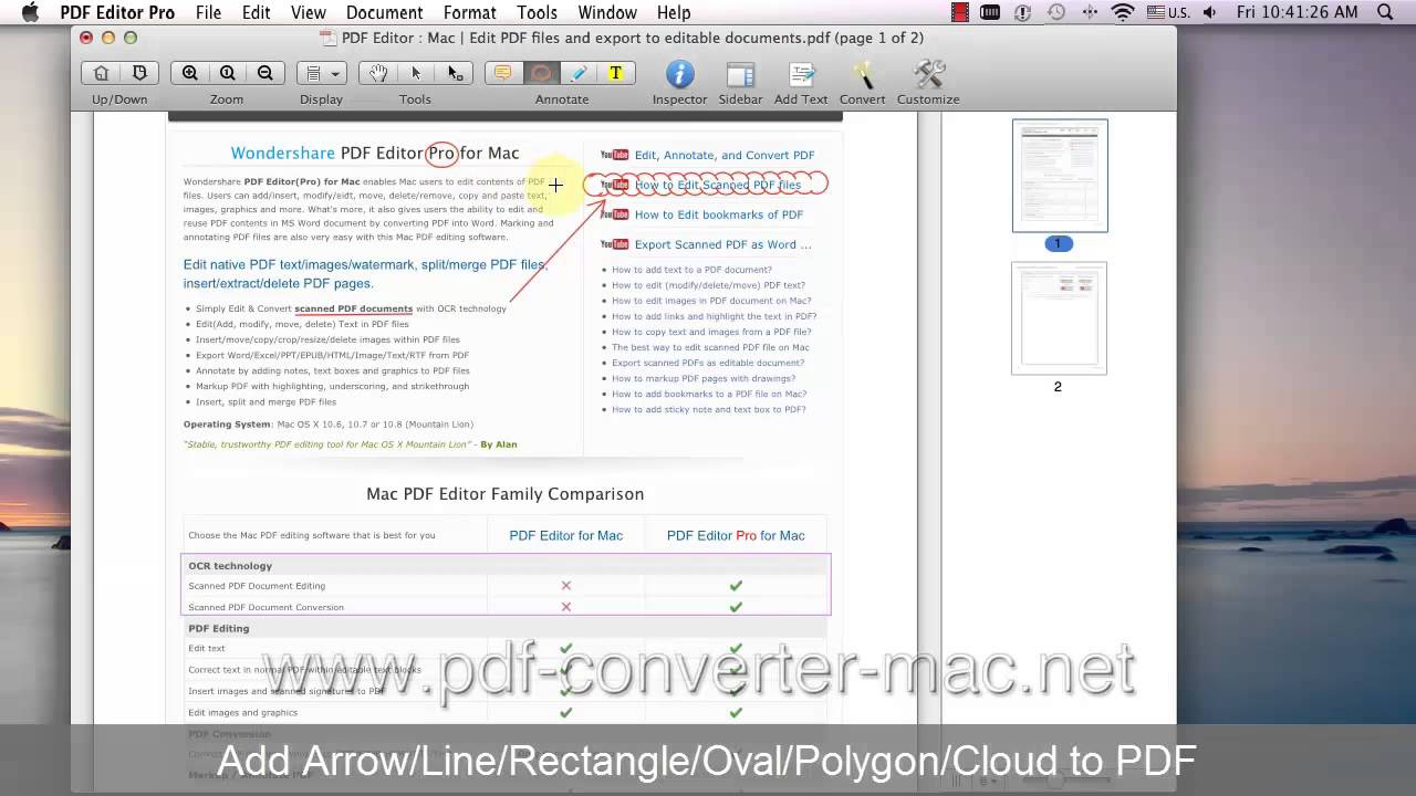 Mac Pdf Editor How To Draw Arrow Line Oval And Other Shapes On Pdf