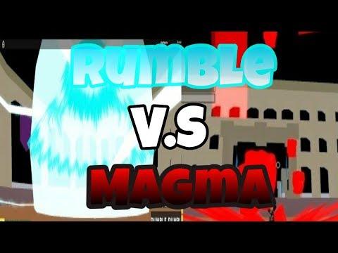 RUMBLE VS MAGMA || BLOX PIECE || ROBLOX