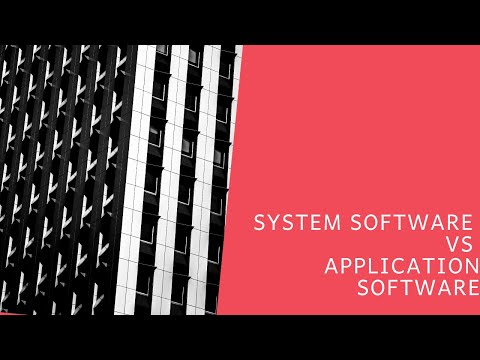 System Software Vs Application Software | SYSTEM SOFTWARE - #1