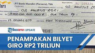 Viral Foto Bilyet Giro Rp2 Triliun Atas Nama Anak Akidi Tio, Heryanti, Ini Tanggapan Pihak Bank