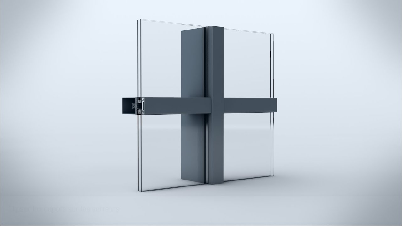 syst me de mur rideau stabalux sr youtube. Black Bedroom Furniture Sets. Home Design Ideas