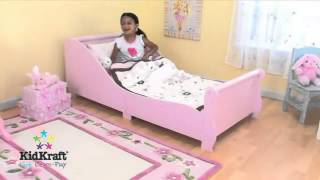 Girls Pink Toddler Bed Sleigh Kidkraft 86735 Girls Bedroom Furniture