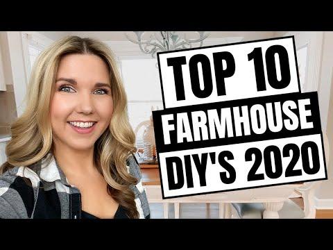 Top 10 Farmhouse Diy S 2020 Home Decor On A Budget Youtube