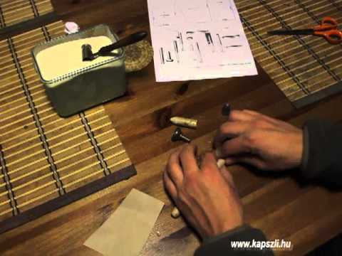 Making the original paper cartridge for Enfield rifle muskets