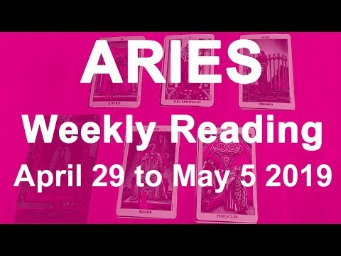 ARIES WEEKLY TAROT READING - APRIL 29TH TO 5TH MAY 2019