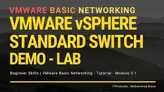 VMware Basic Networking - vSphere Standard Switch - Step by Step - Module 5-1
