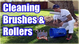 How To Clean A Paint Roller & Paint Brush Fast.  DIY Hacks Cleaning a Paint Brush.   painting tips