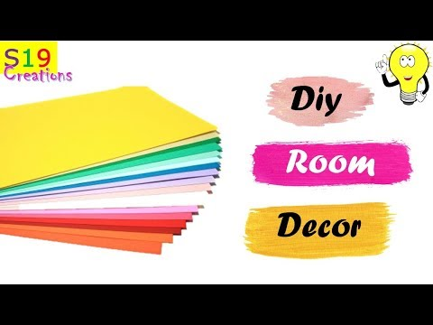 Paper craft ideas for room decoration | Easy center table decor idea with paper | inexpensive ideas